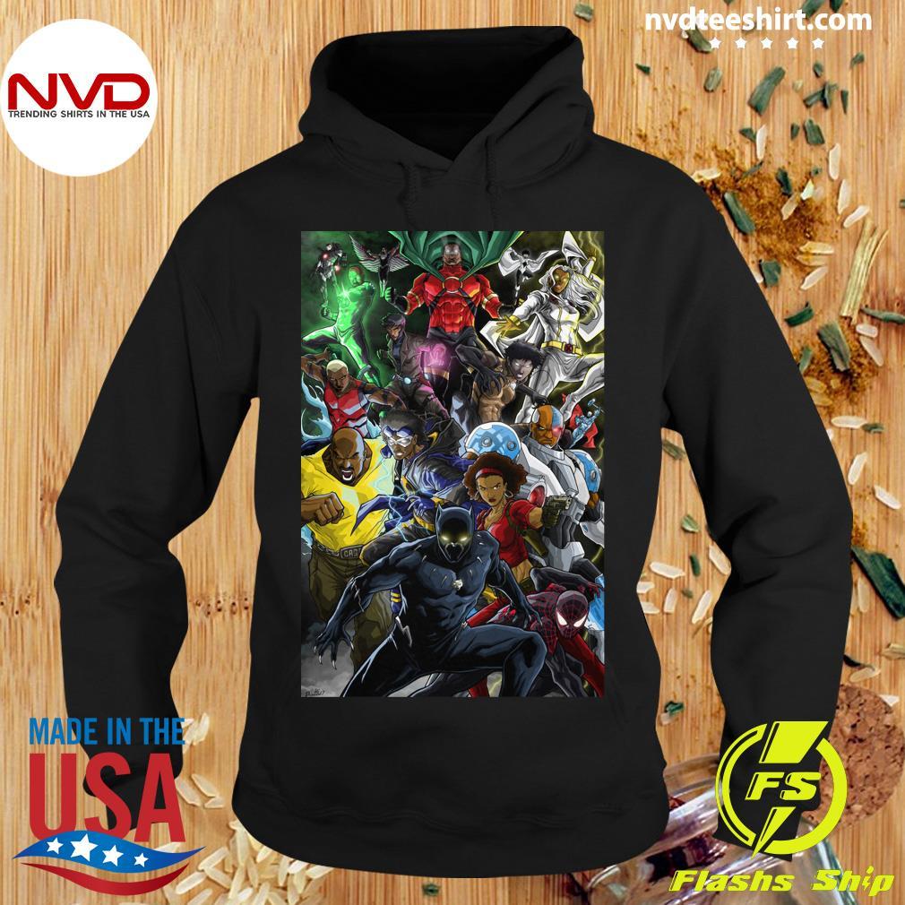 Black Women And Men Superheroes T-s Hoodie