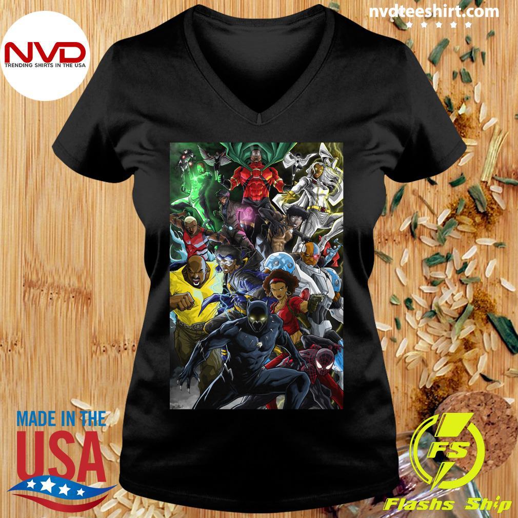Black Women And Men Superheroes T-s Ladies tee