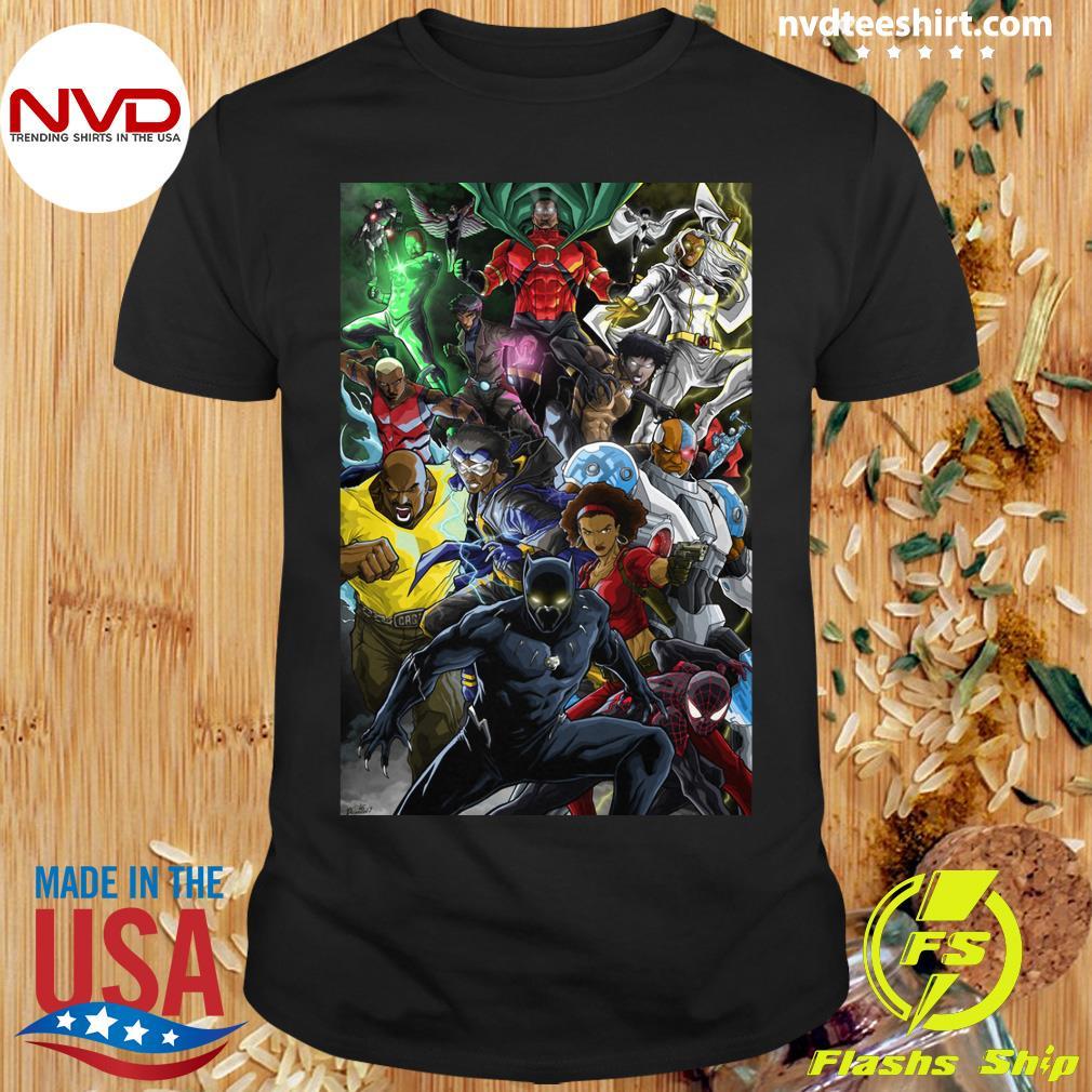 Black Women And Men Superheroes T-shirt