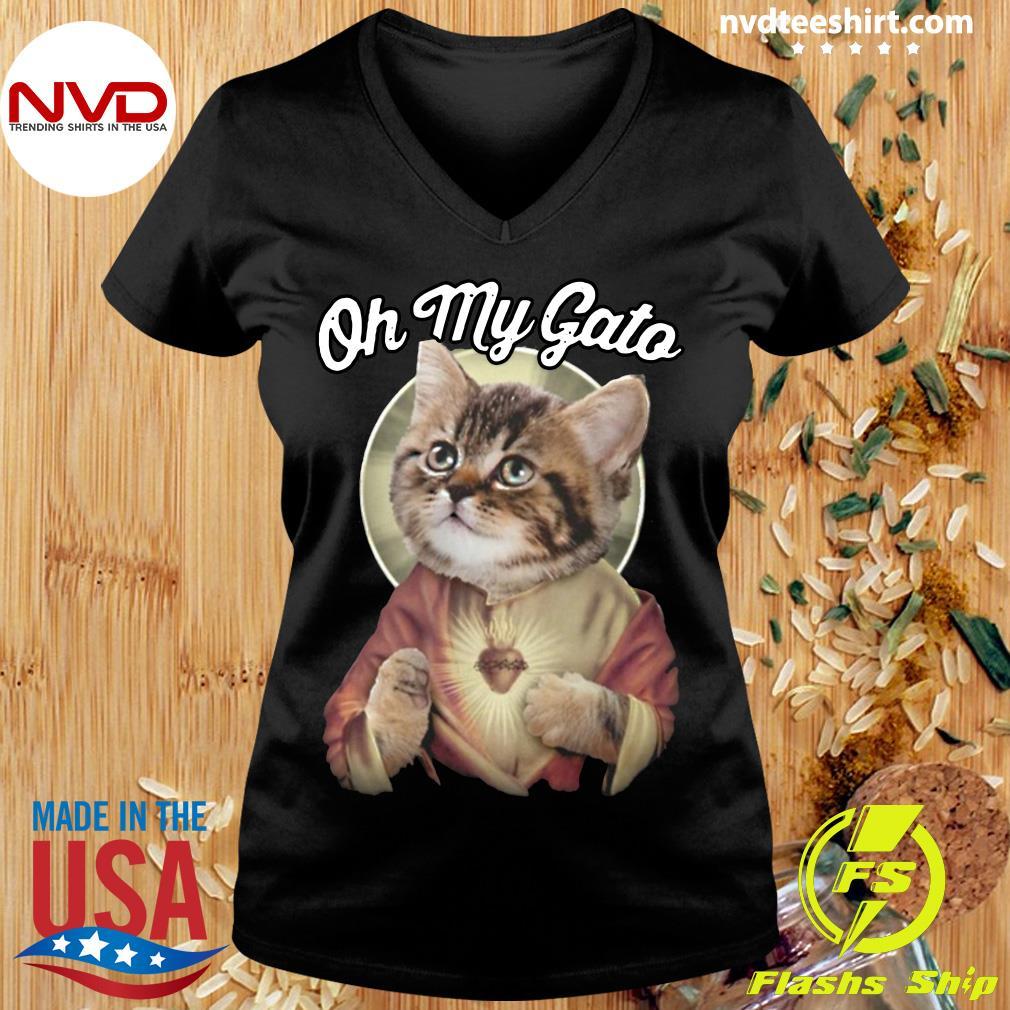 Funny Cat Jesus Oh My Gato T-s Ladies tee