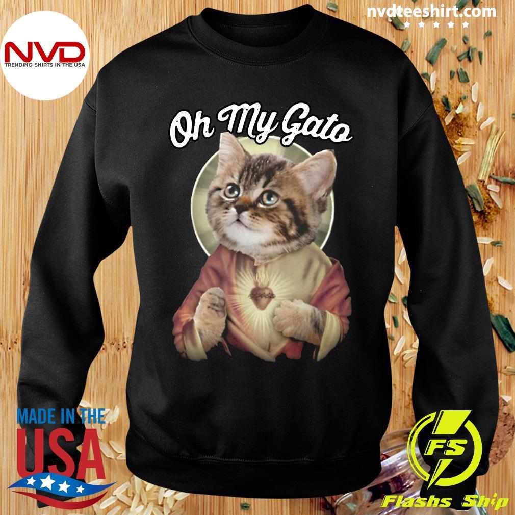 Funny Cat Jesus Oh My Gato T-s Sweater