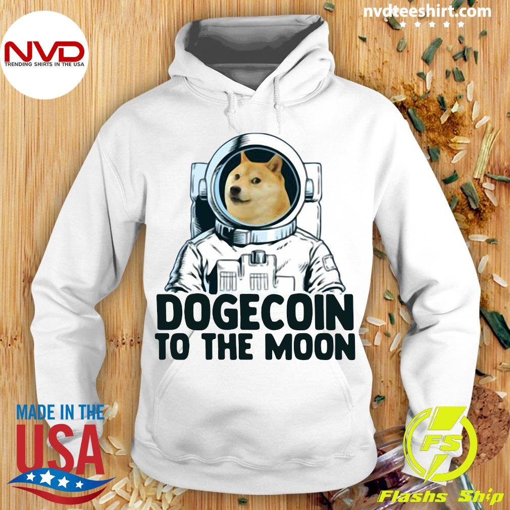 Funny Dogecoin Astronaut To The Moon T-s Hoodie