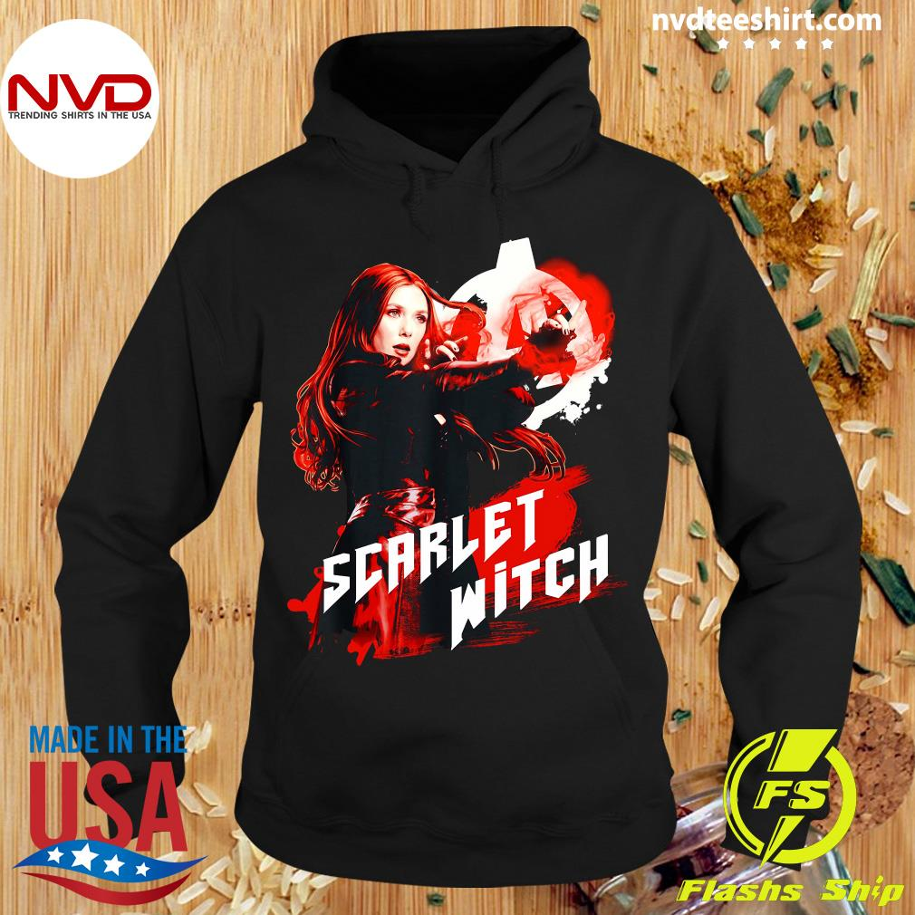 Funny Marvel Infinity War Scarlet Witch Red Splat Graphic T-s Hoodie