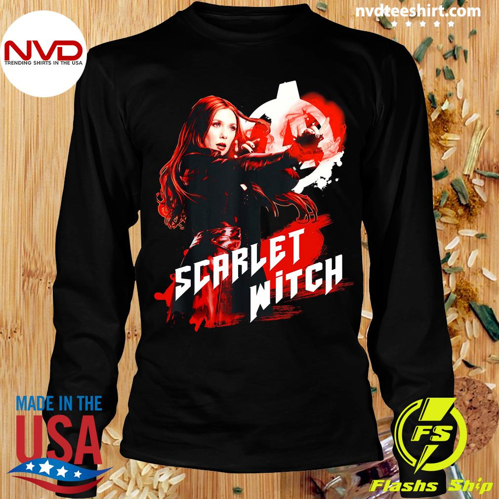 Funny Marvel Infinity War Scarlet Witch Red Splat Graphic T-s Longsleeve