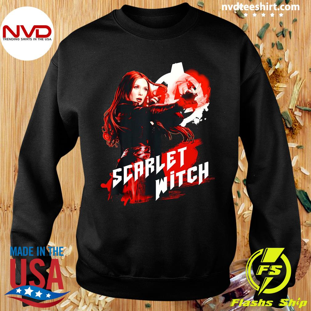 Funny Marvel Infinity War Scarlet Witch Red Splat Graphic T-s Sweater