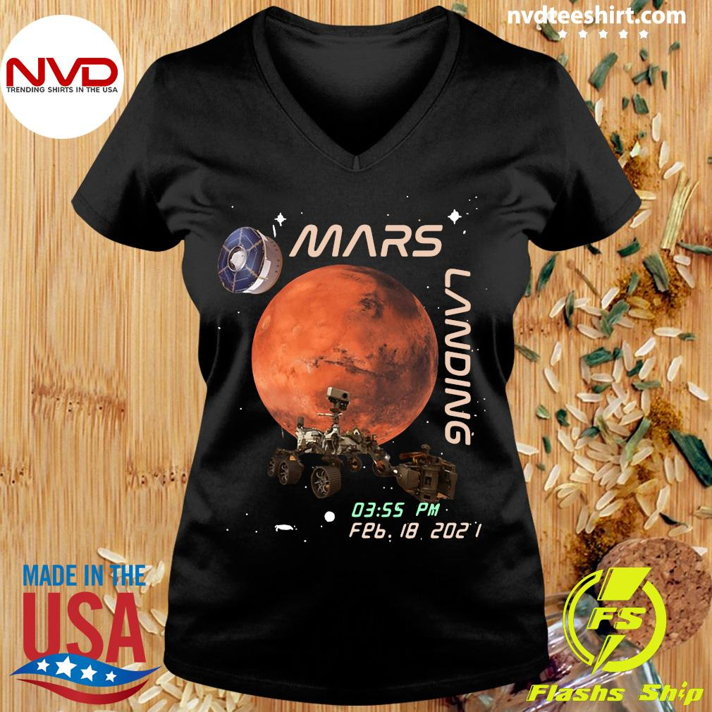 Funny NASA Mars Landing 03.55 PM FEB 18 2021 T-s Ladies tee