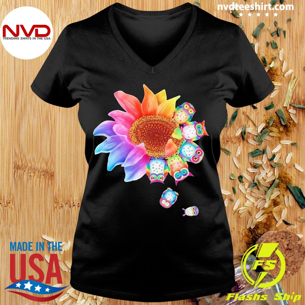 Funny Owl With Flower Owls T-s Ladies tee