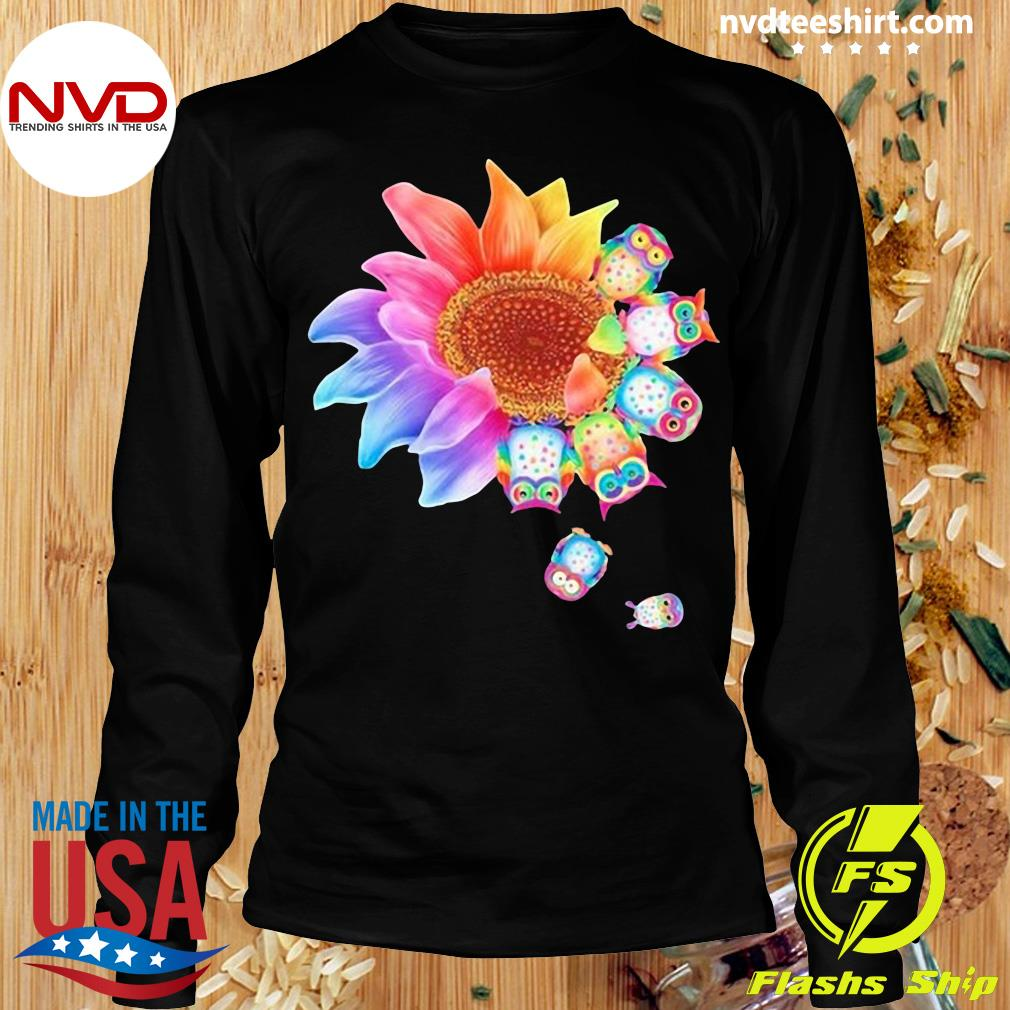 Funny Owl With Flower Owls T-s Longsleeve