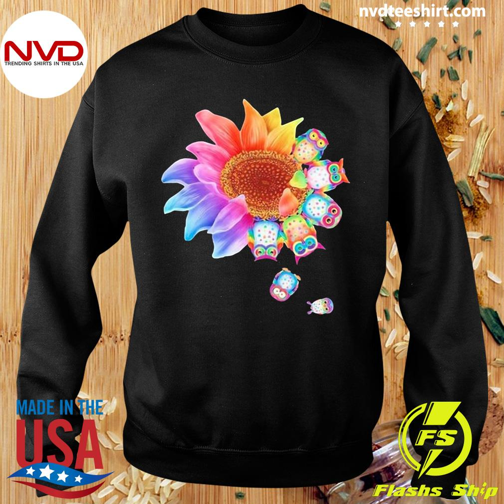 Funny Owl With Flower Owls T-s Sweater