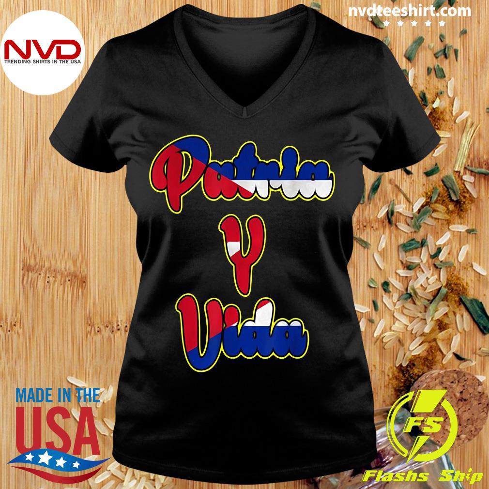 Official 2021 Patria Y Vida, Cuba Flag, Cuban Revolution, Cubano Cuba T-s Ladies tee