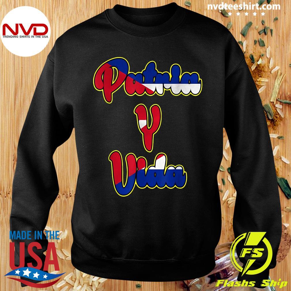 Official 2021 Patria Y Vida, Cuba Flag, Cuban Revolution, Cubano Cuba T-s Sweater