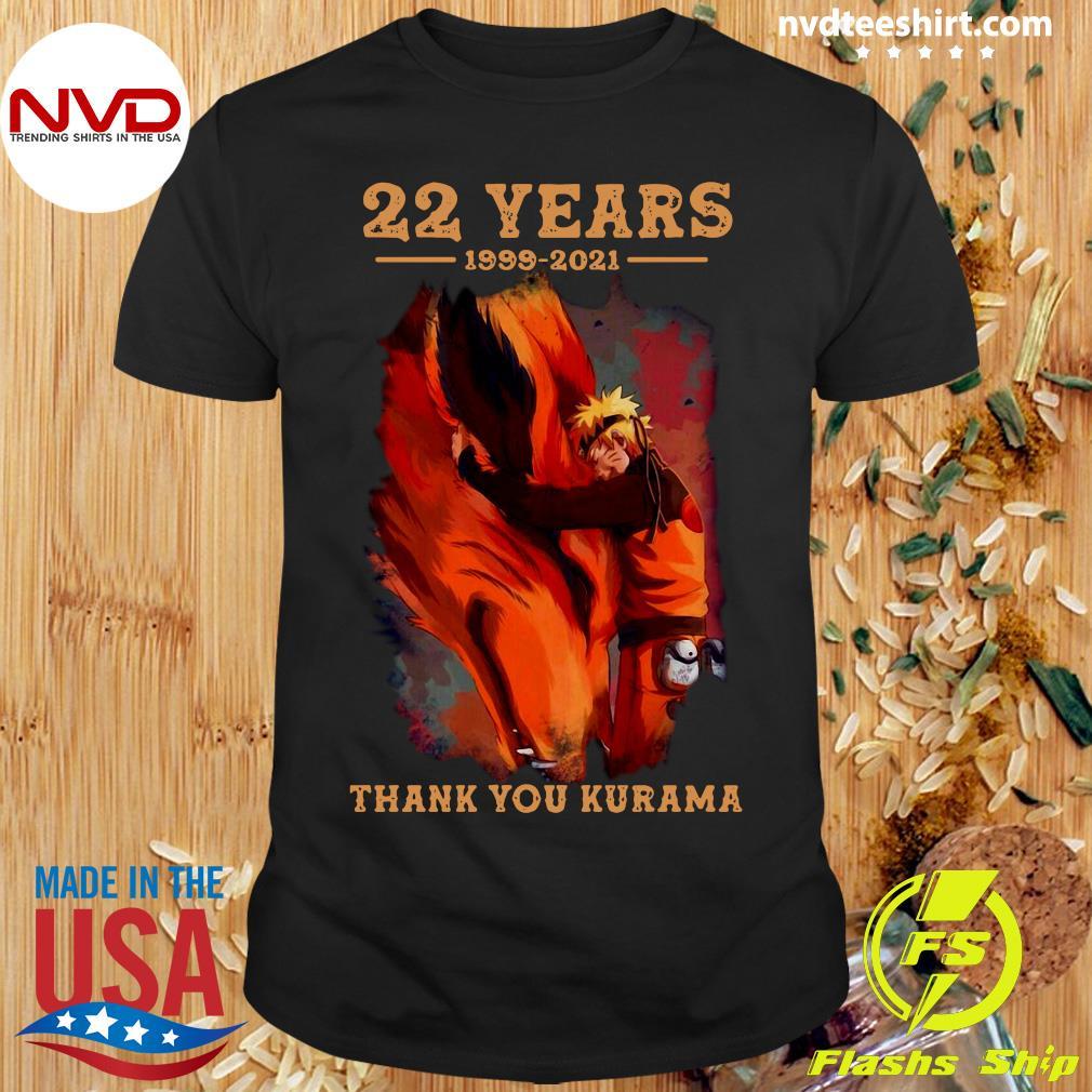 Official 22 Years 1999 2021 Thank You Kurama T-shirt