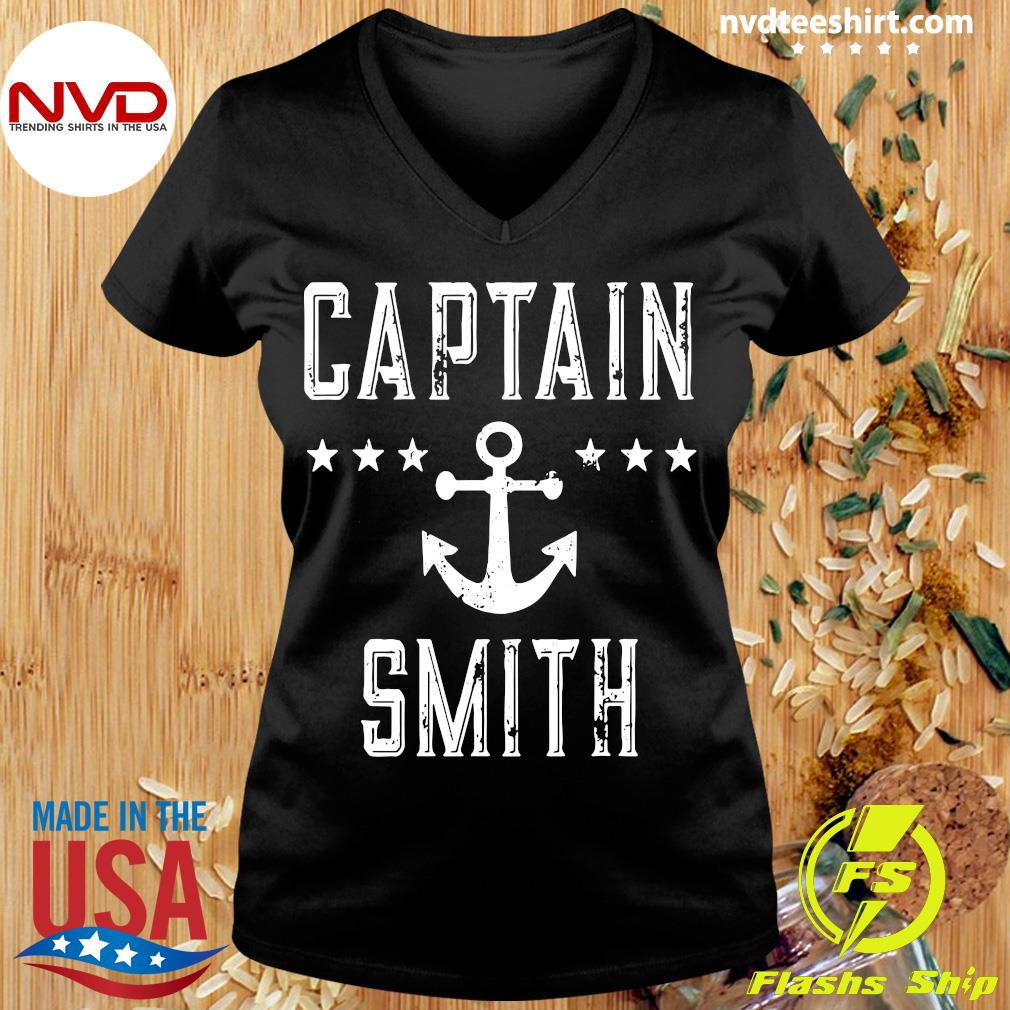 Official Captain Smith Personalized Boating Lover Gift Vintage T-s Ladies tee