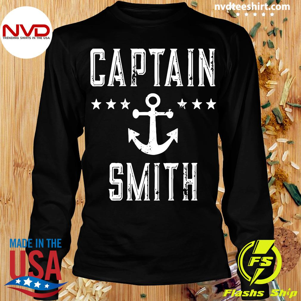 Official Captain Smith Personalized Boating Lover Gift Vintage T-s Longsleeve