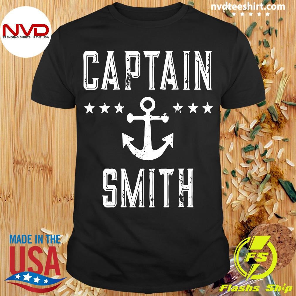 Official Captain Smith Personalized Boating Lover Gift Vintage T-shirt