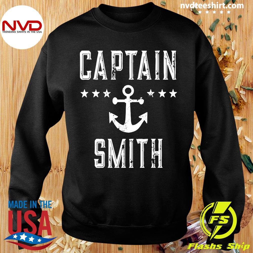 Official Captain Smith Personalized Boating Lover Gift Vintage T-s Sweater