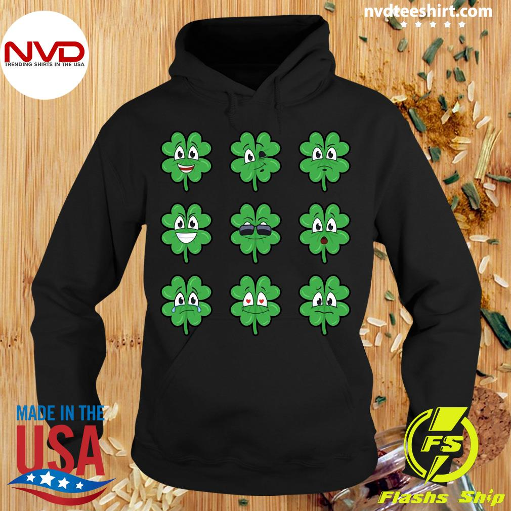 Official Clover Emojis Emoticons Boys Girls St. Patrick's Day T-s Hoodie