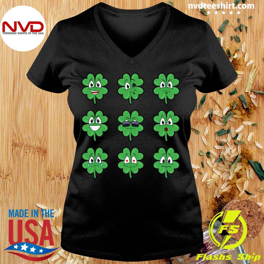 Official Clover Emojis Emoticons Boys Girls St. Patrick's Day T-s Ladies tee