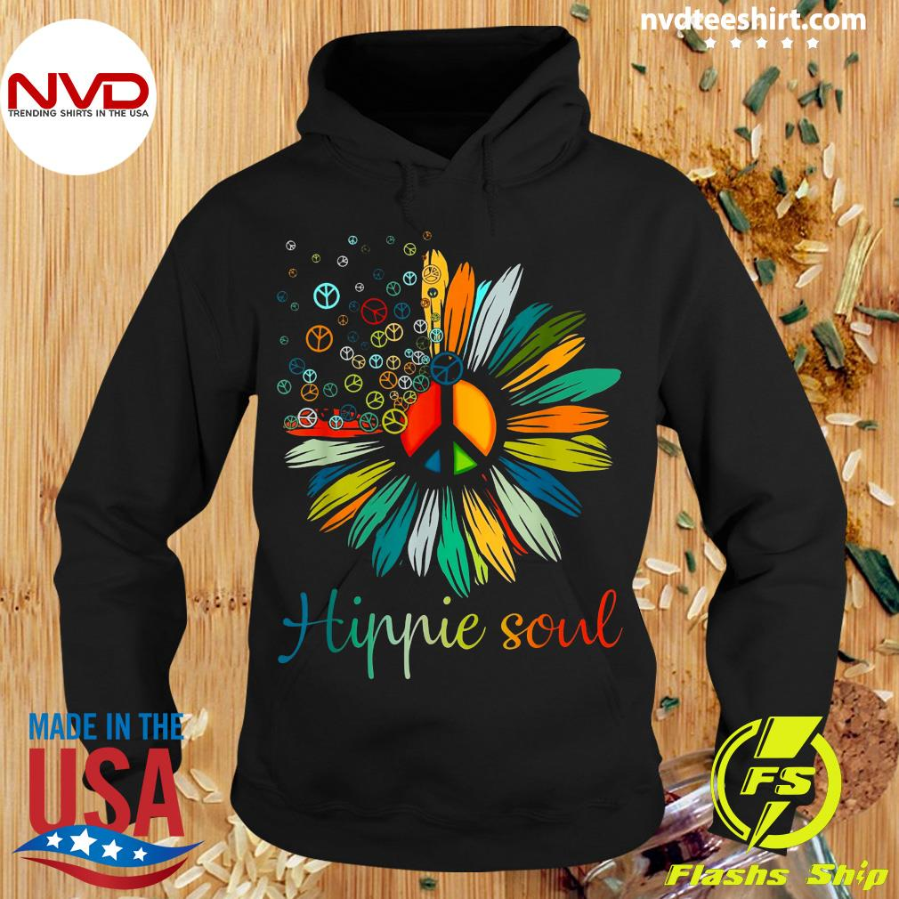 Official Daisy Peace Sign Hippie Soul Flower T-s Hoodie