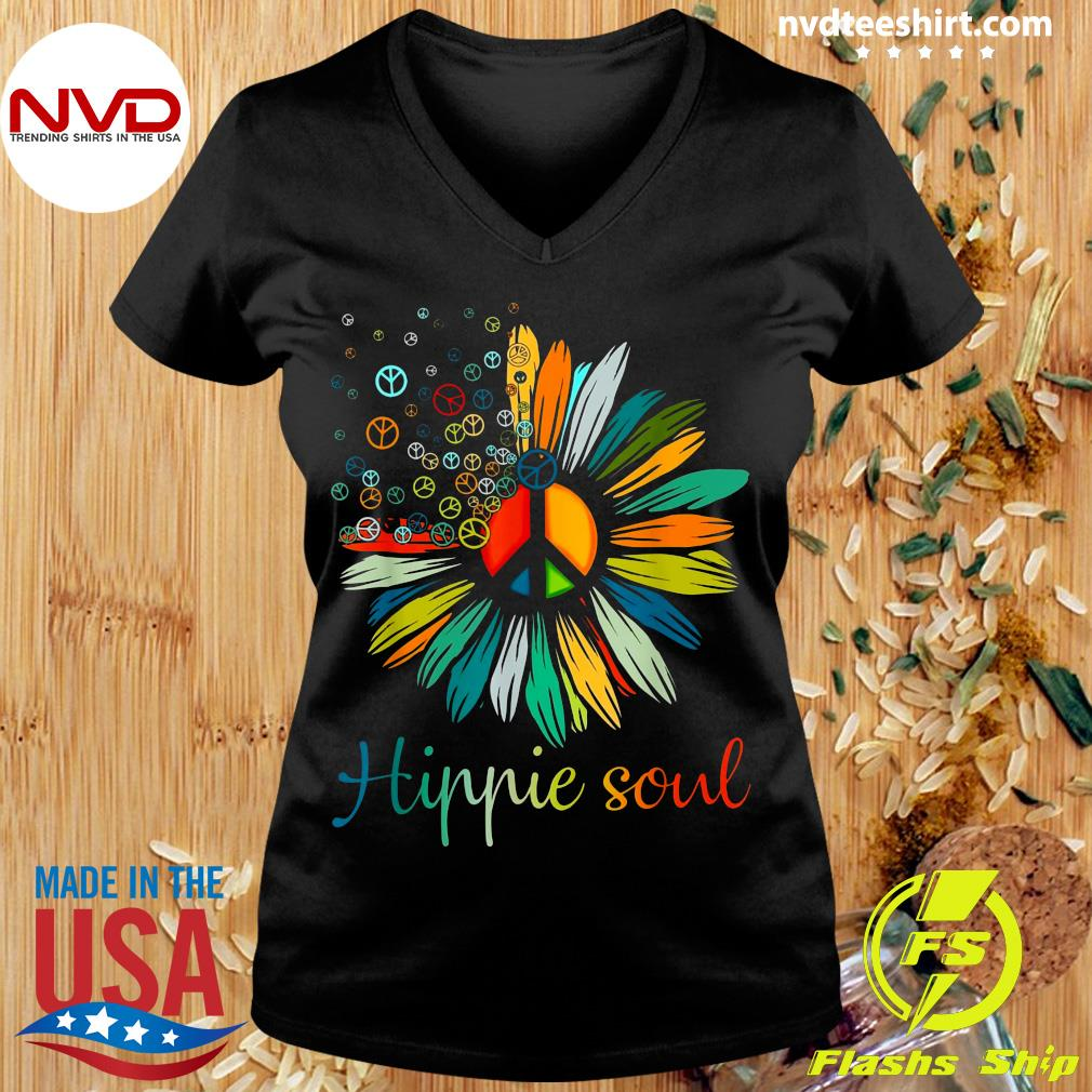 Official Daisy Peace Sign Hippie Soul Flower T-s Ladies tee