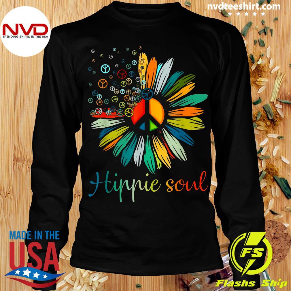Official Daisy Peace Sign Hippie Soul Flower T-s Longsleeve