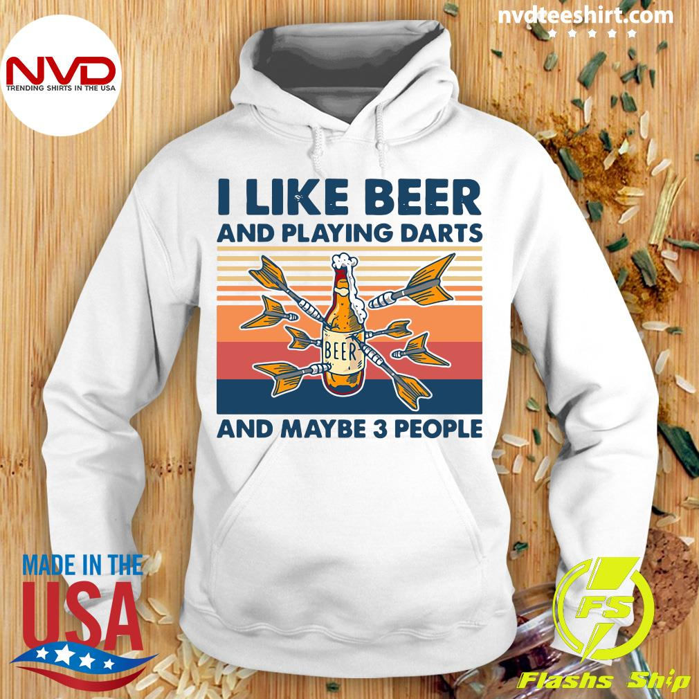 Official Darts I Like Beer And Playing Darts And Maybe 3 People Vintage Retro T-s Hoodie