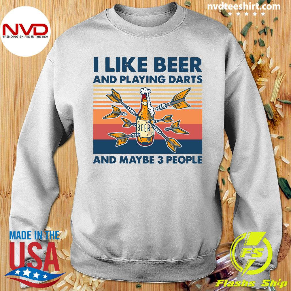 Official Darts I Like Beer And Playing Darts And Maybe 3 People Vintage Retro T-s Sweater