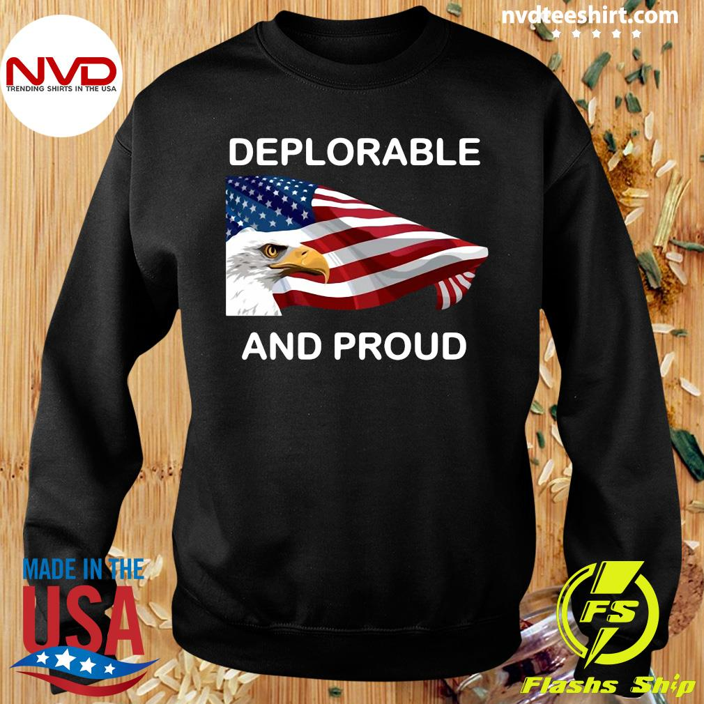 Official Deplorable And Proud Eagle American Flag T-s Sweater