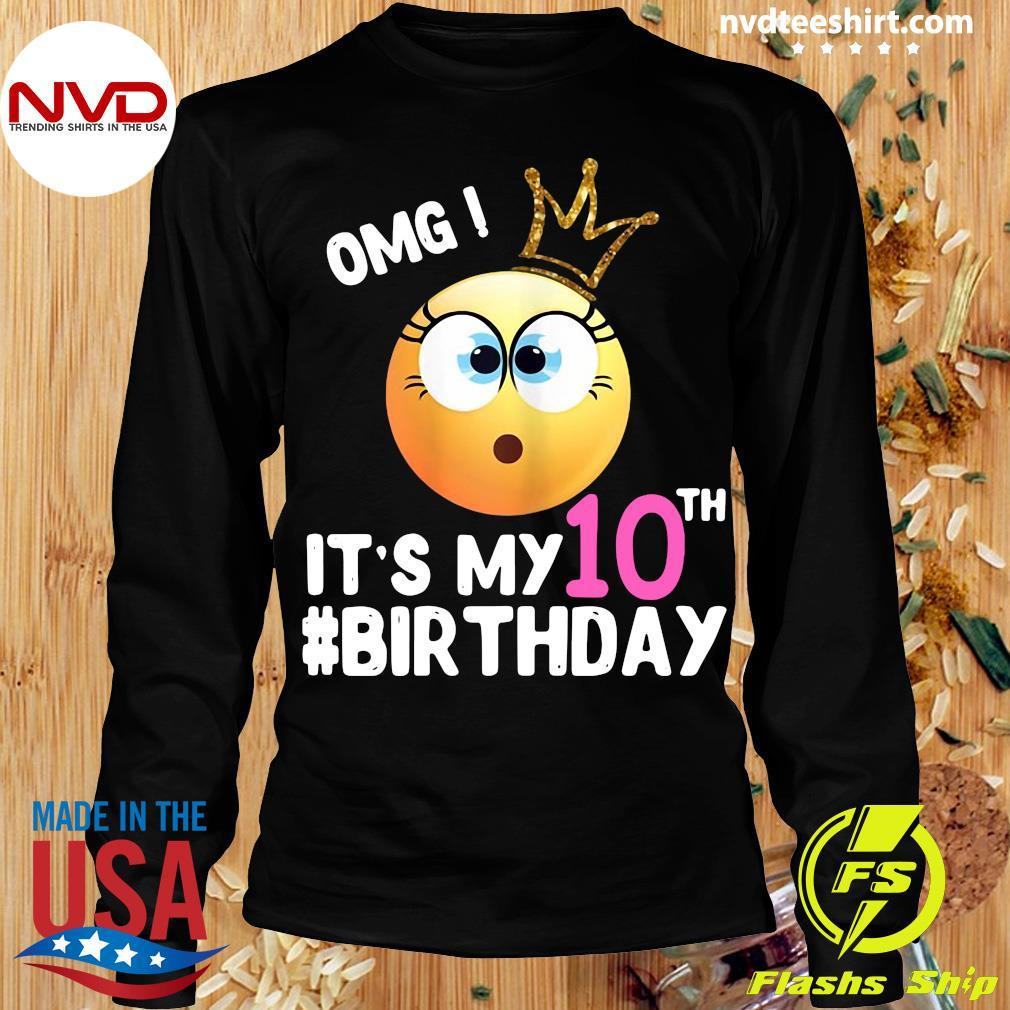 Official Girl Emoji Omg It's My 10Th Birthday T-s Longsleeve