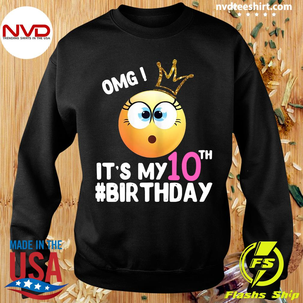 Official Girl Emoji Omg It's My 10Th Birthday T-s Sweater