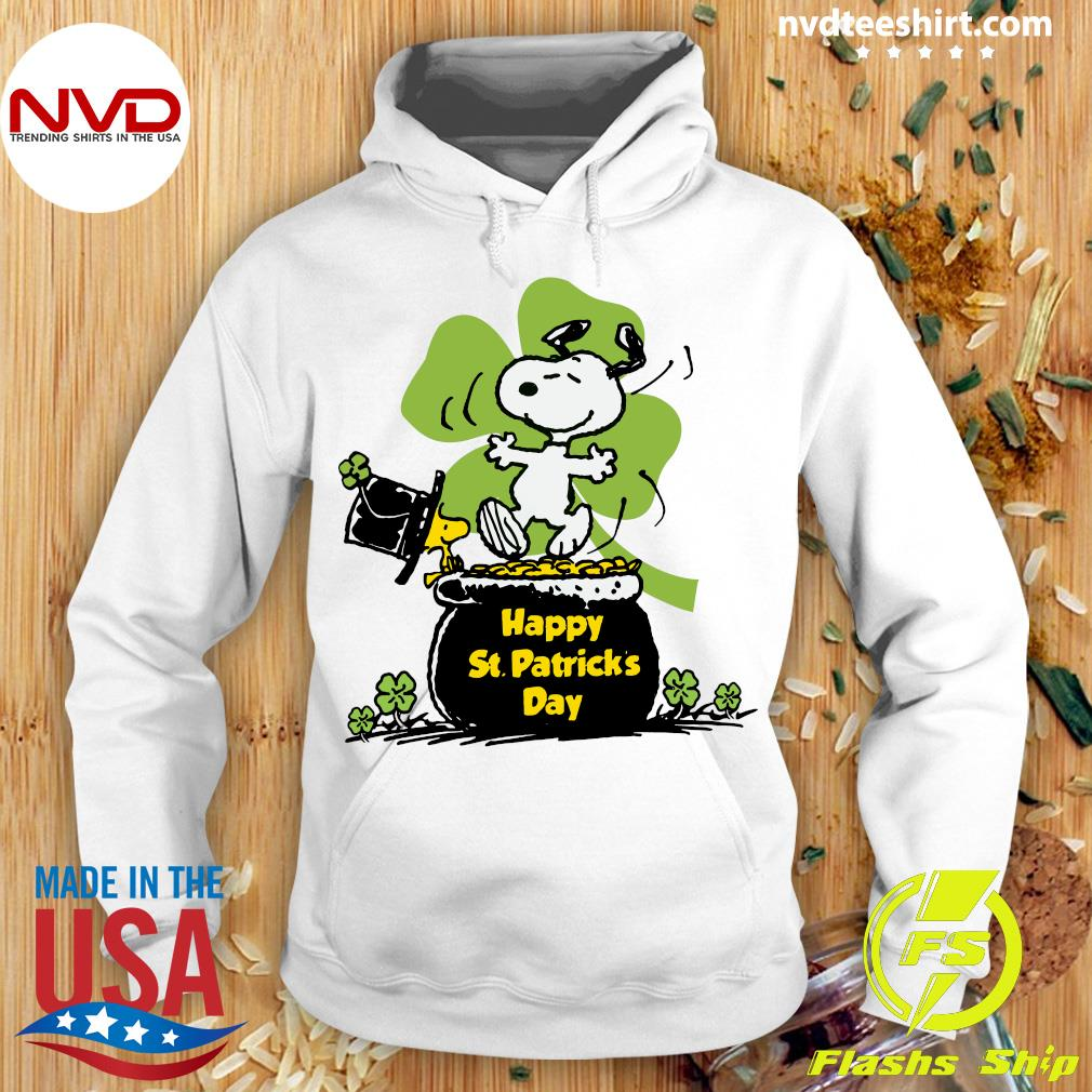 Official Happy St Patrick's Day Snoopy And Woodstock Funny T-s Hoodie