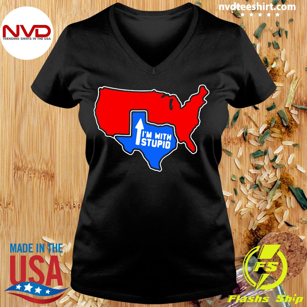 Official I'm With Stupid Texas T-s Ladies tee