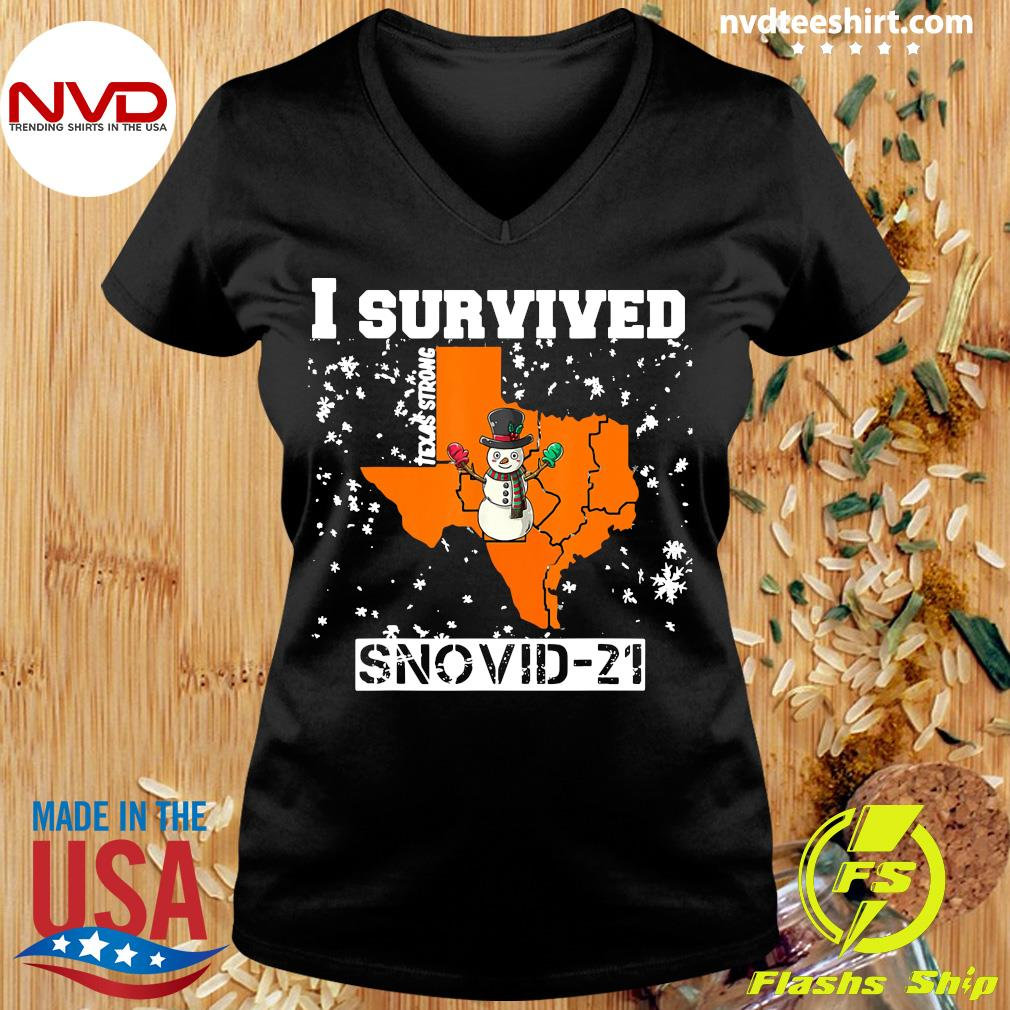 Official I Survived Snovid 2021 Texas Snowstorm T-s Ladies tee