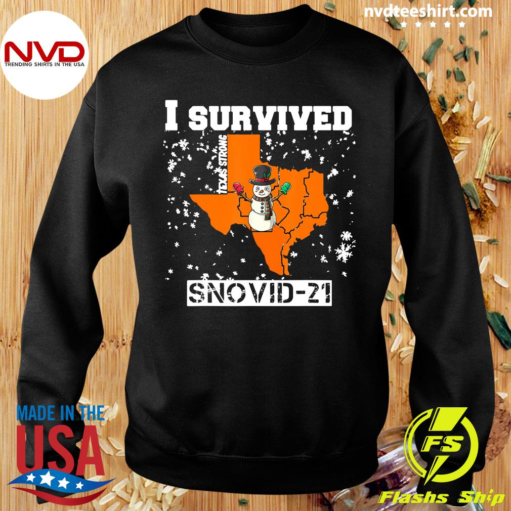 Official I Survived Snovid 2021 Texas Snowstorm T-s Sweater