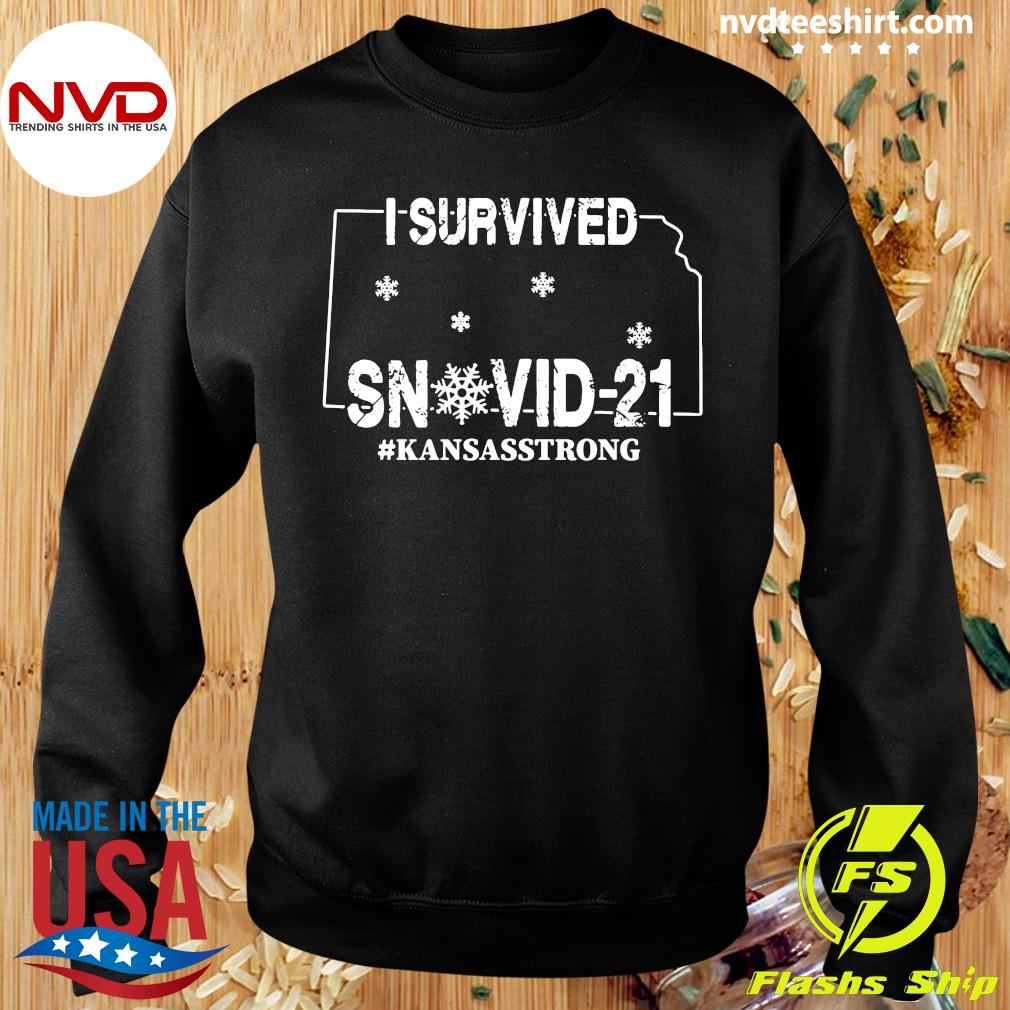 Official I Survived Snovid-21 Kansasstrong T-s Sweater