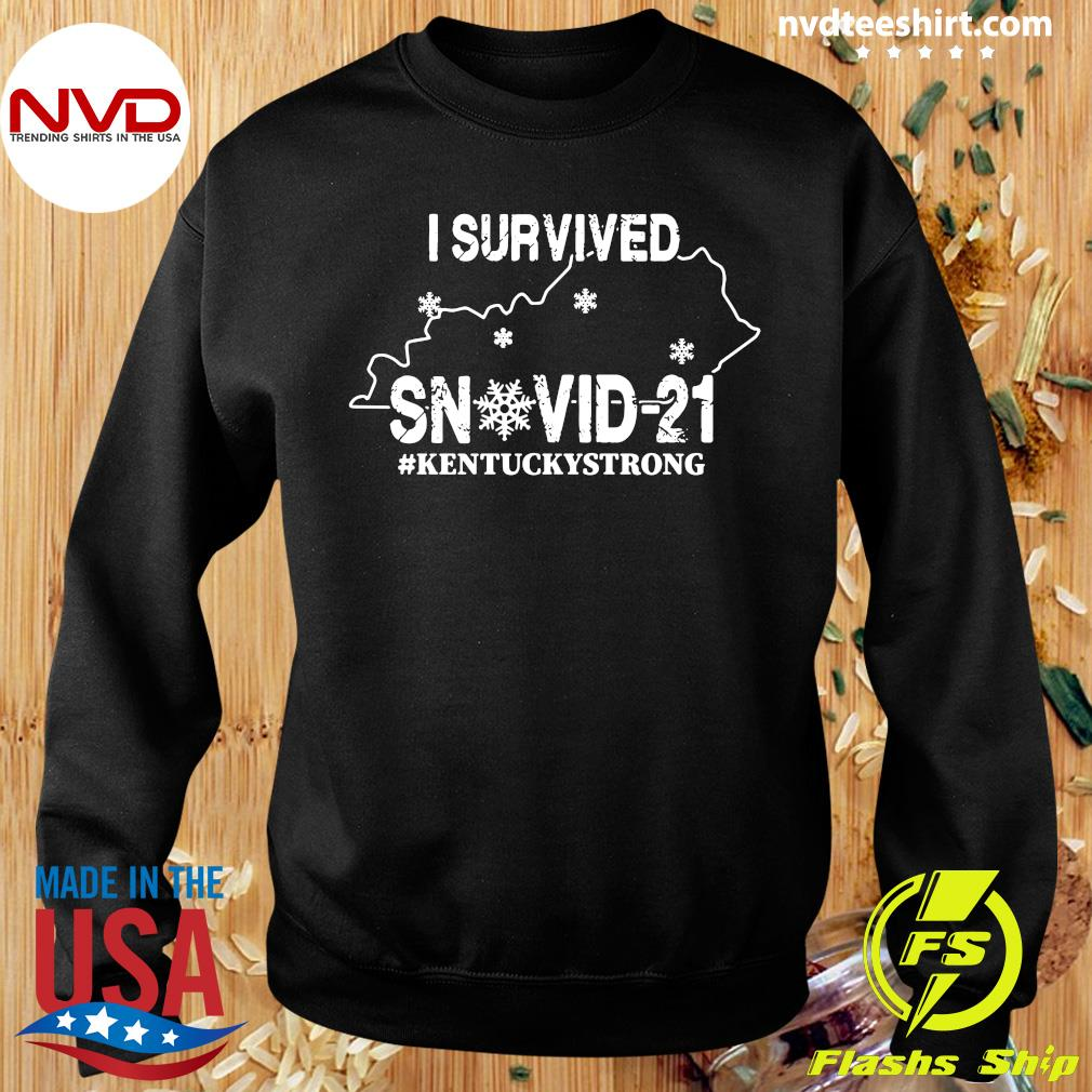 Official I Survived Snovid-21 Kentuckystrong T-s Sweater