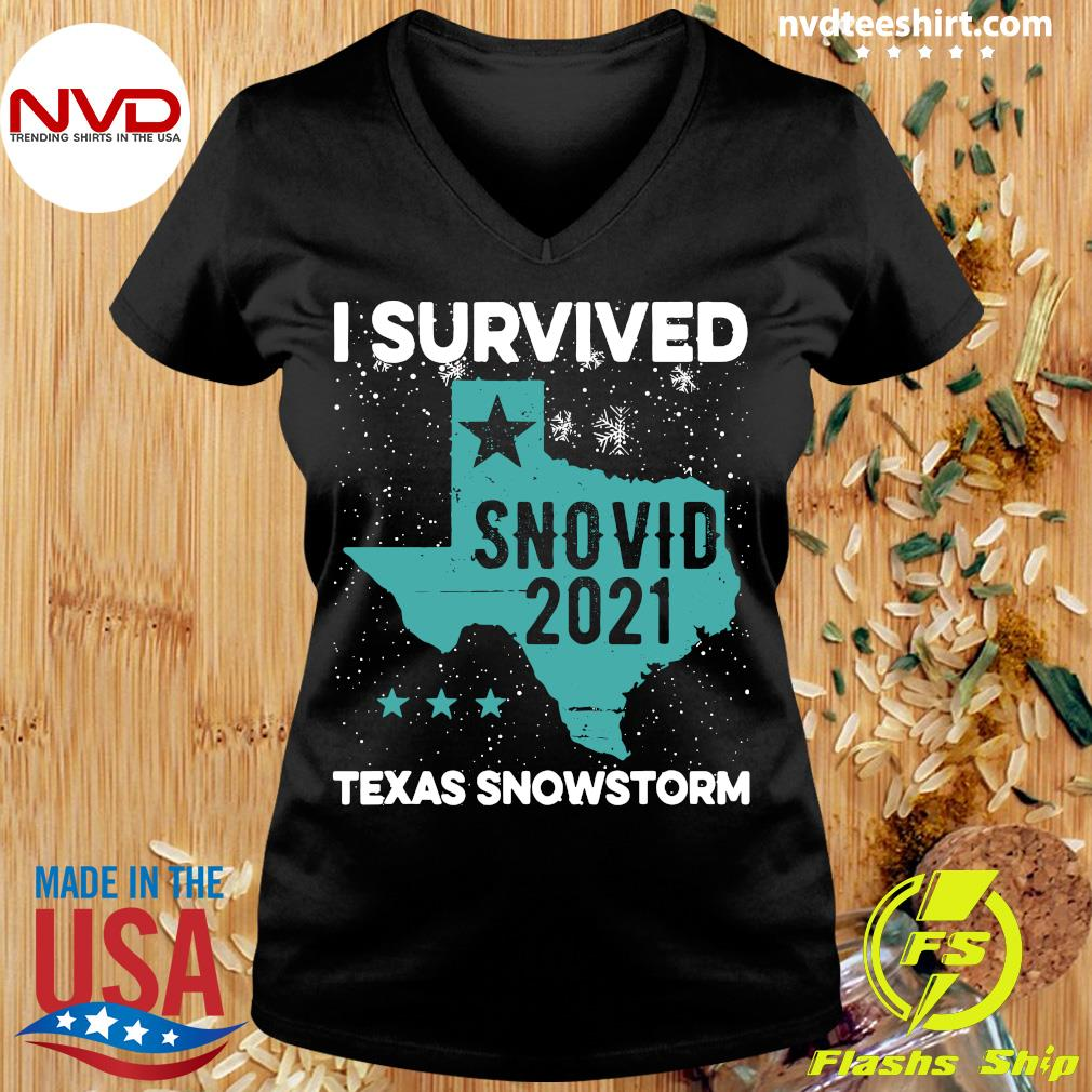 Official I Survived Snovid-21 Texas Snowstorm T-s Ladies tee