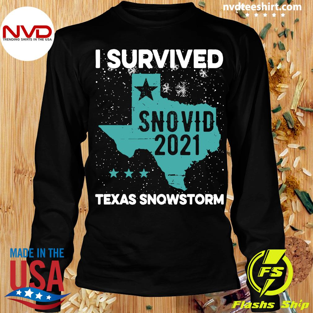 Official I Survived Snovid-21 Texas Snowstorm T-s Longsleeve