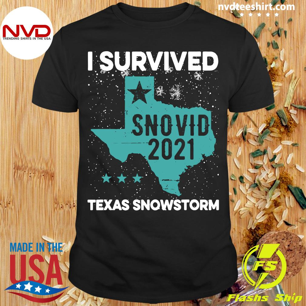 Official I Survived Snovid-21 Texas Snowstorm T-shirt