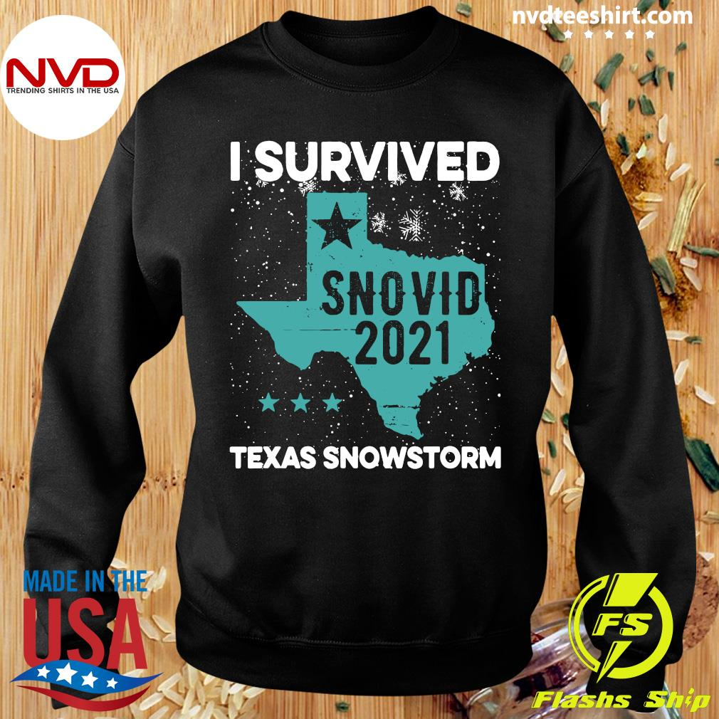 Official I Survived Snovid-21 Texas Snowstorm T-s Sweater
