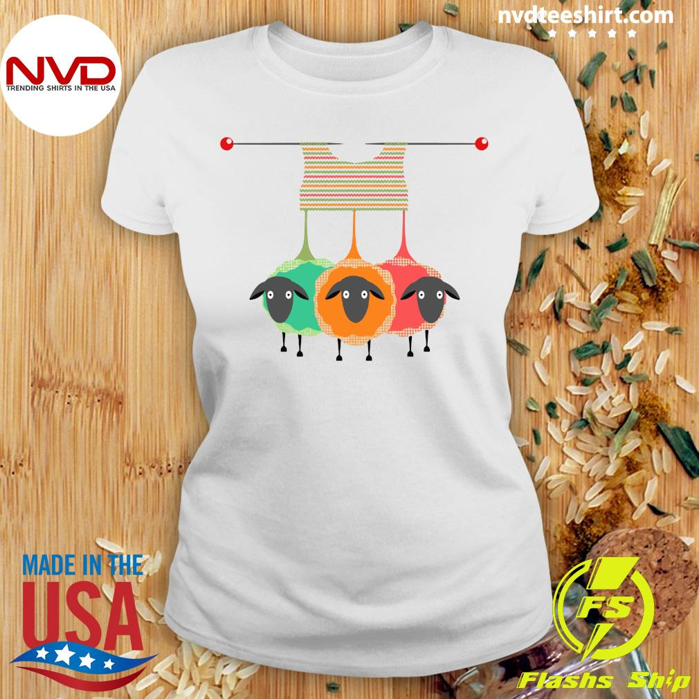 Official Knitting Knitters Yarn Gift Idea T-s Ladies tee