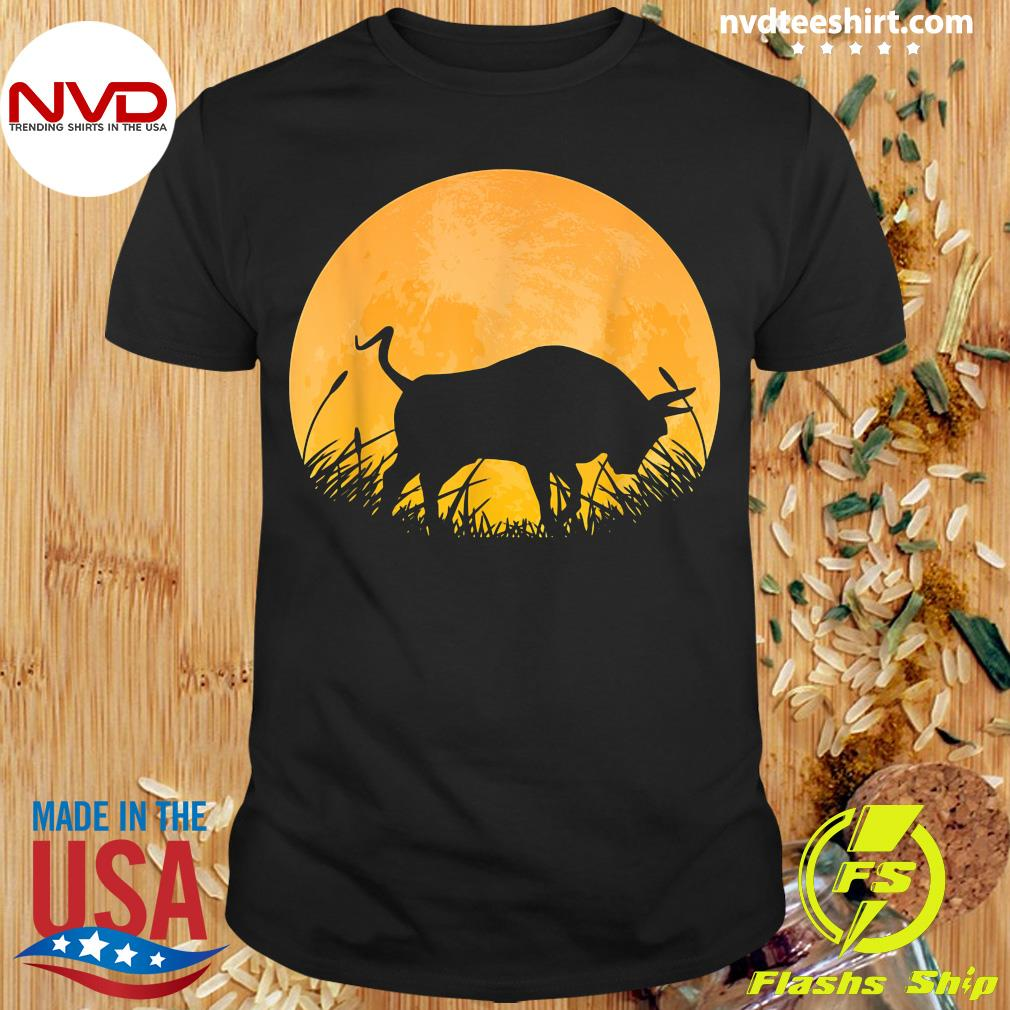 Official Ox Easy Halloween Outfit Cattle Oxen Moon Costume T-shirt