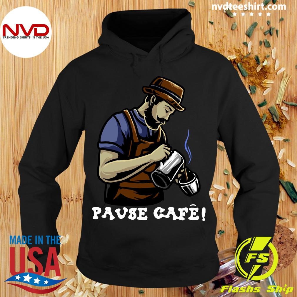 Official Pause Cafe The Bartender T-s Hoodie
