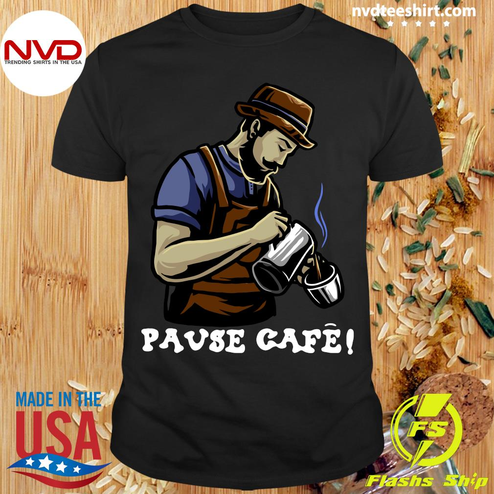 Official Pause Cafe The Bartender T-shirt