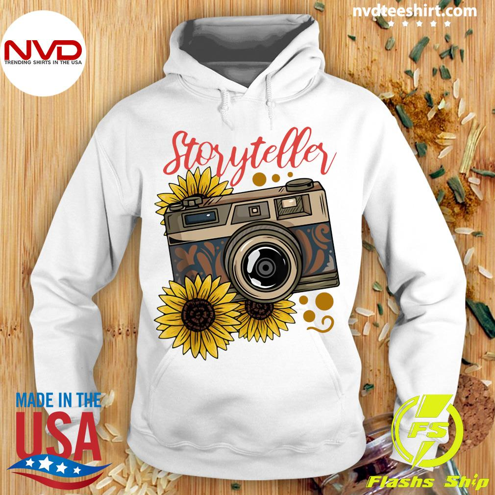 Official Photography Storyteller Sunflower Camera T-s Hoodie