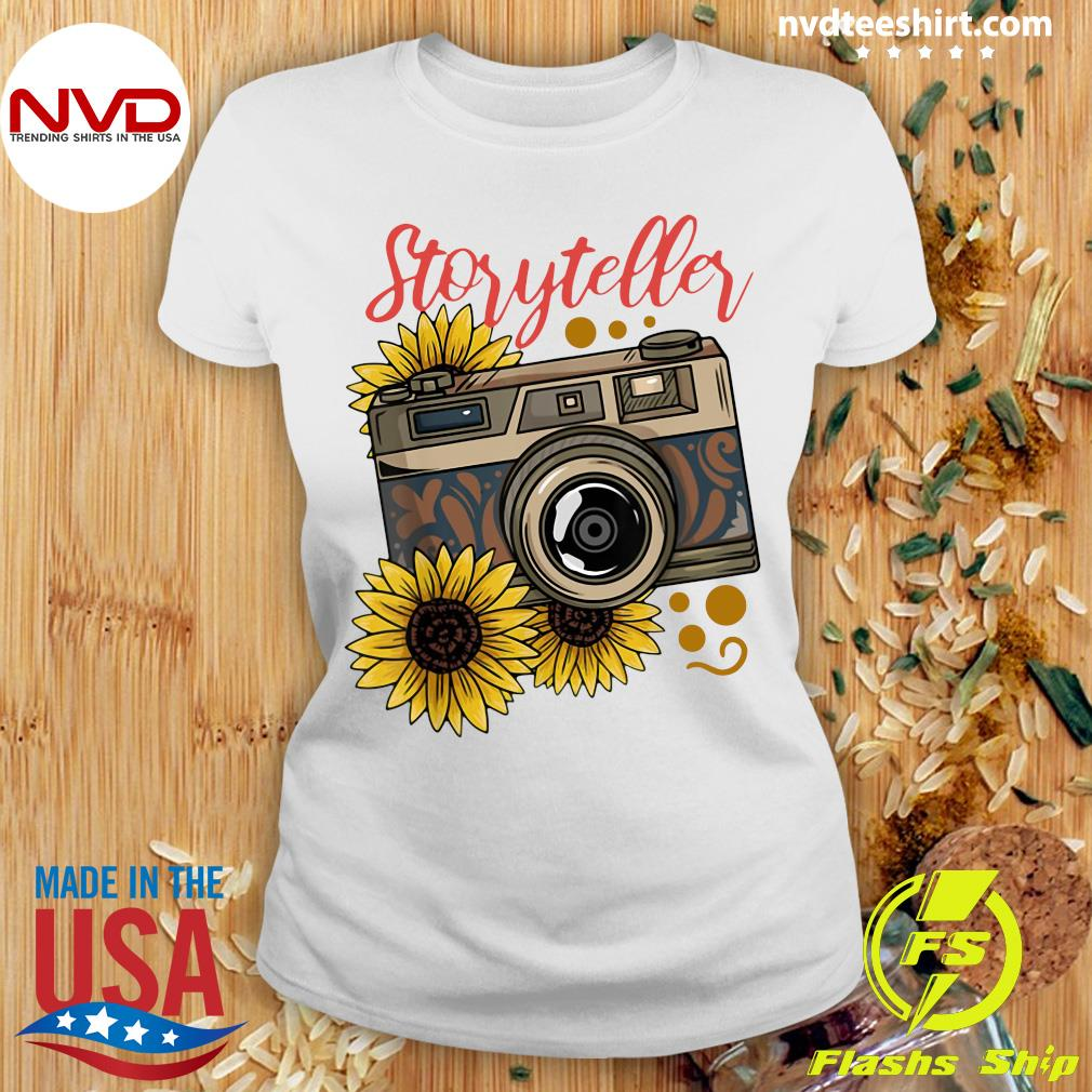 Official Photography Storyteller Sunflower Camera T-s Ladies tee