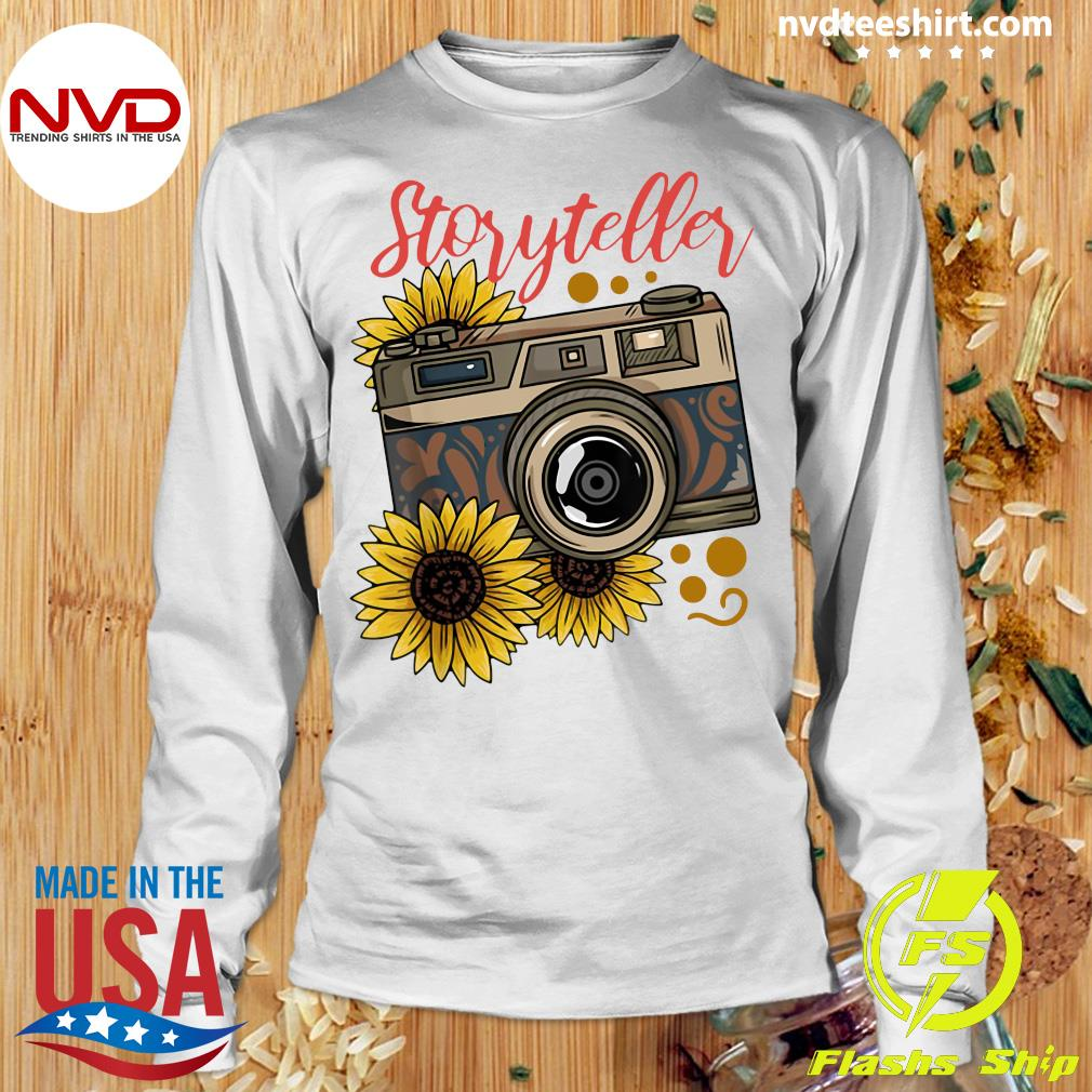 Official Photography Storyteller Sunflower Camera T-s Longsleeve