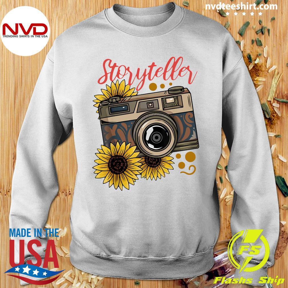 Official Photography Storyteller Sunflower Camera T-s Sweater