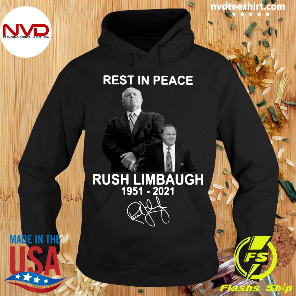Official Rest In Peace Rush Limbaugh 1951 2021 Signature T-s Hoodie