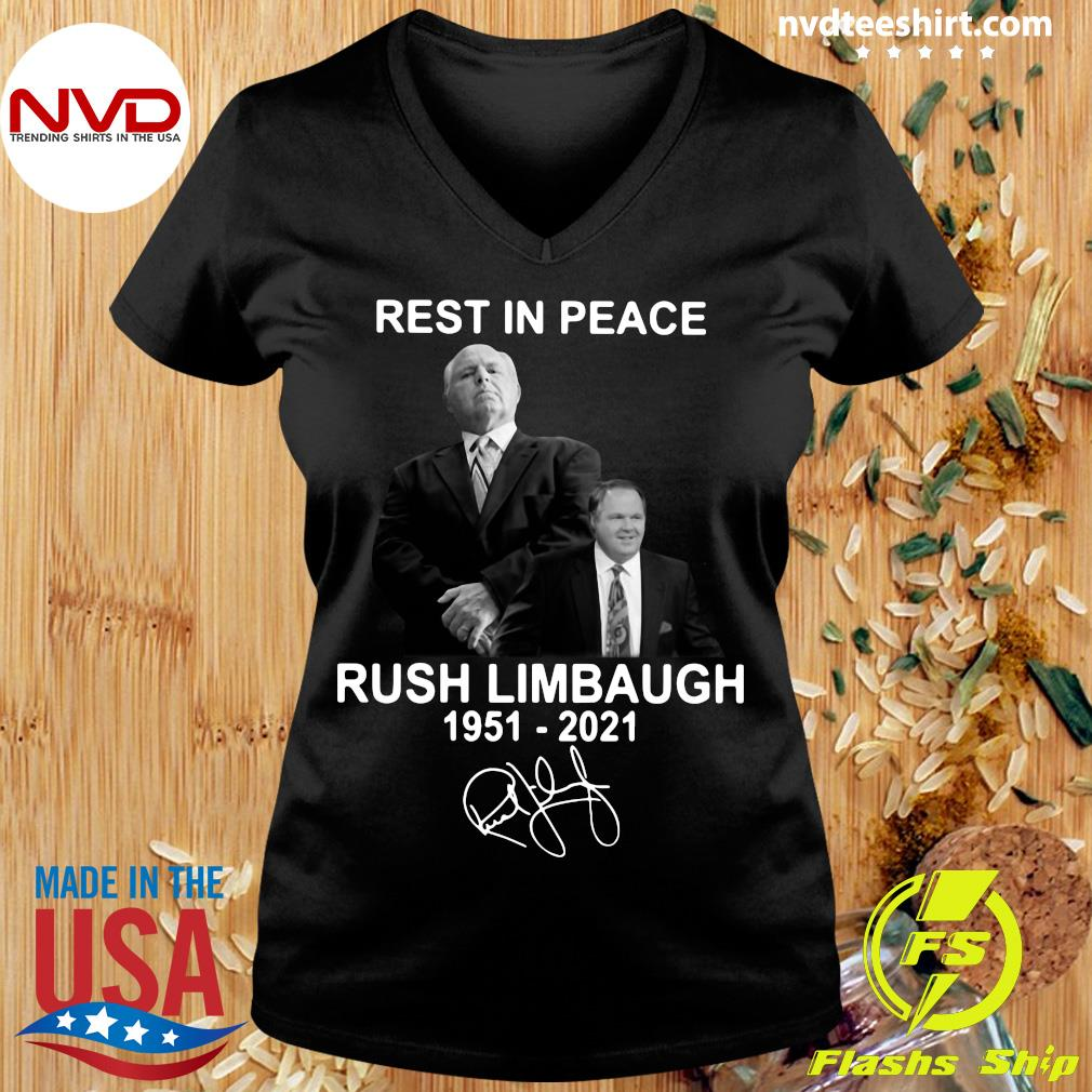 Official Rest In Peace Rush Limbaugh 1951 2021 Signature T-s Ladies tee